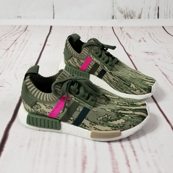 newest 63ae9 87820 adidas Shoes - NWOT ADIDAS Originals NMD R1 Primeknit Camo Pink